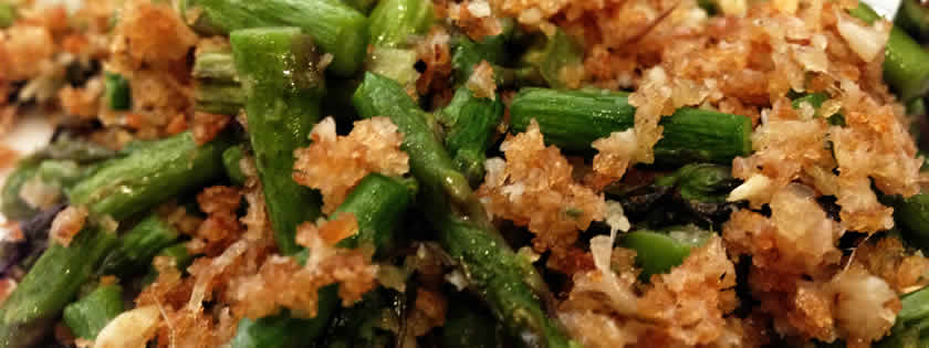 Roasted Asparagus with Panko Bread Crumbs